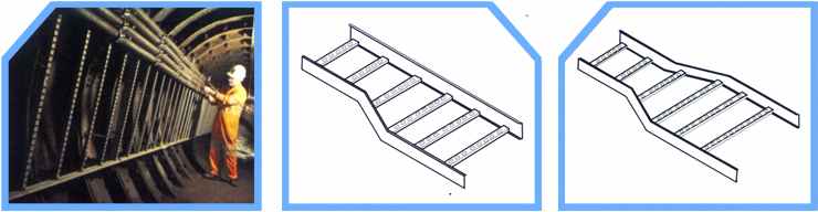 ladder type tray in tunnel one side reducer both side reducer jpeg