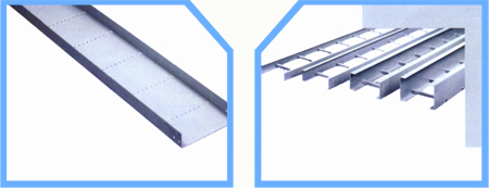 FRp perforated cable tray FRP ladder type cable tray image